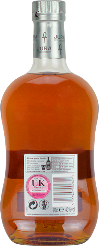 Personalised Isle of Jura Superstition Whisky 70cl engraved bottle