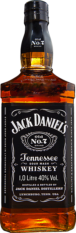 Engraved text on a bottle of Personalised Jack Daniels Old No7 1 Litre