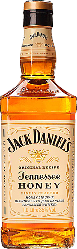 Personalised Jack Daniels Honey 1 Litre engraved bottle