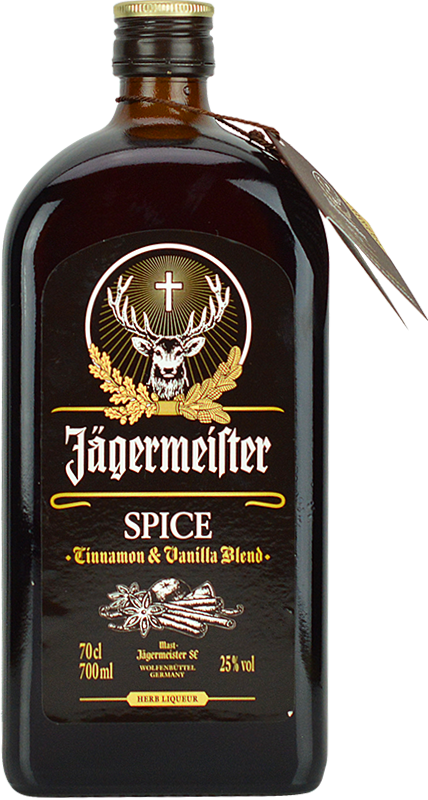 Engraved text on a bottle of Personalised Jagermeister Spiced Liqueur 70cl