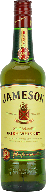 Personalised Jameson Blended Irish Whiskey 70cl engraved bottle