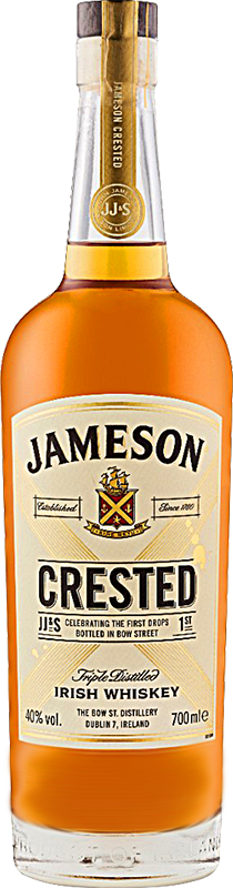 Personalised Jameson Crested Irish Whiskey 70cl engraved bottle