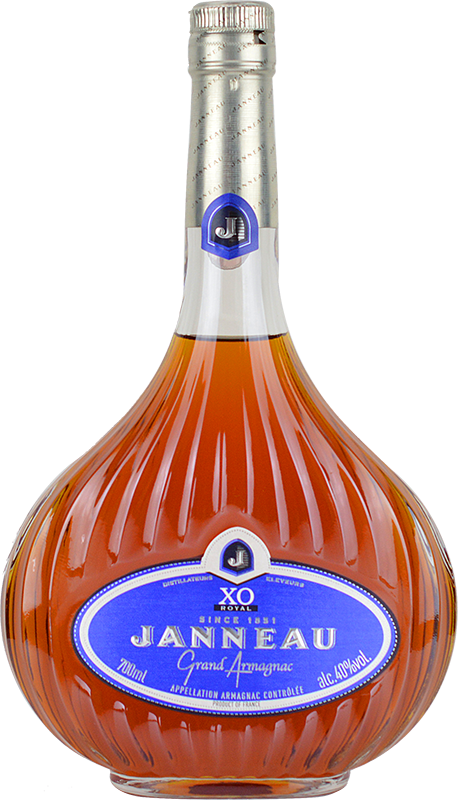 Personalised Janneau XO Brandy 70cl engraved bottle