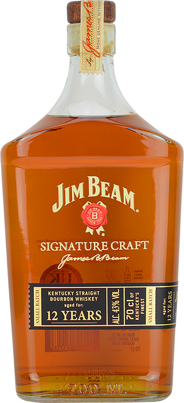 Personalised Jim Beam Signature Craft 12 Years Old Whiskey 70cl engraved bottle