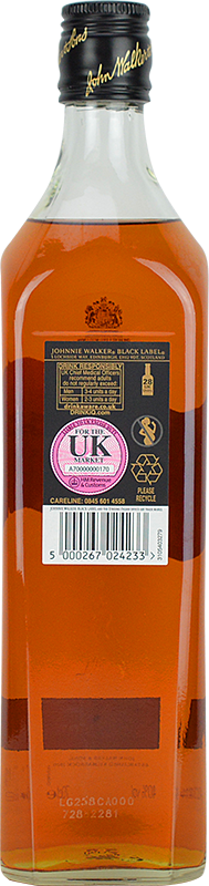 Personalised Johnnie Walker Black Label Whisky 70cl engraved bottle