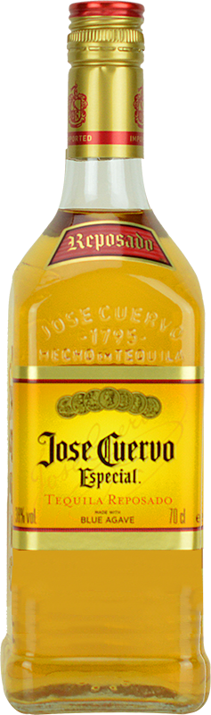 Personalised Jose Cuervo Especial Gold Tequila 70cl engraved bottle
