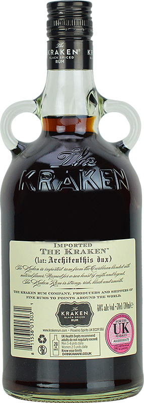 Personalised Kraken Black Spiced Rum 70cl engraved bottle