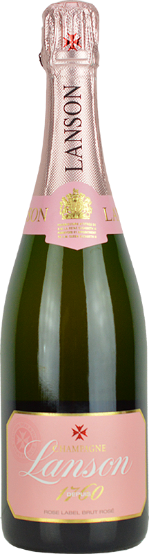 Engraved text on a bottle of Personalised Lanson Rose Champagne 75cl