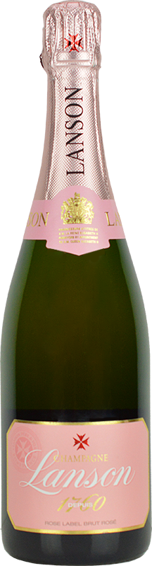 Personalised Lanson Rose Champagne 75cl engraved bottle