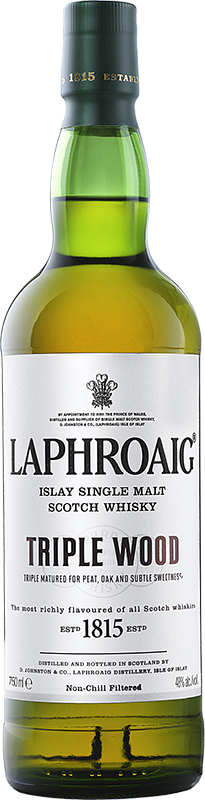 Personalised Laphroaig Triple Wood Whisky 70cl engraved bottle