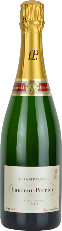 Engraved text on a bottle of Personalised Laurent Perrier Brut Champagne 75cl