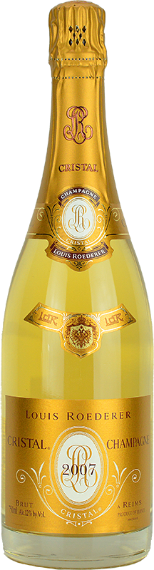 Engraved text on a bottle of Personalised Louis Roederer Cristal Champagne 75cl