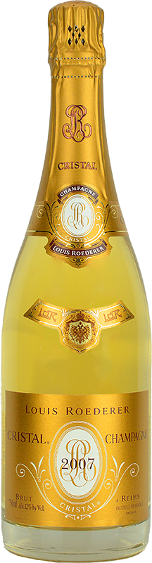 Personalised Louis Roederer Cristal Champagne 75cl engraved bottle