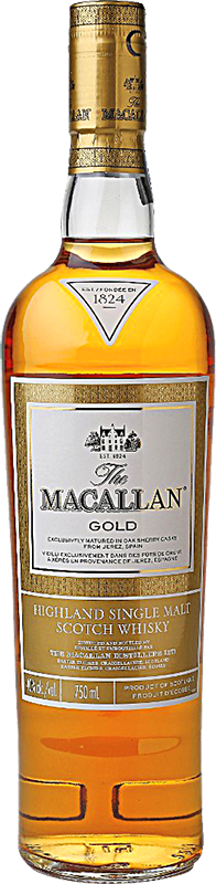 Personalised Macallan Gold Whisky 70cl engraved bottle