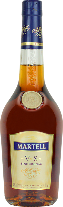 Personalised Martell VS Cognac 70cl engraved bottle