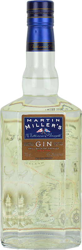 Personalised Martin Millers Westbourne Strength Gin 70cl engraved bottle