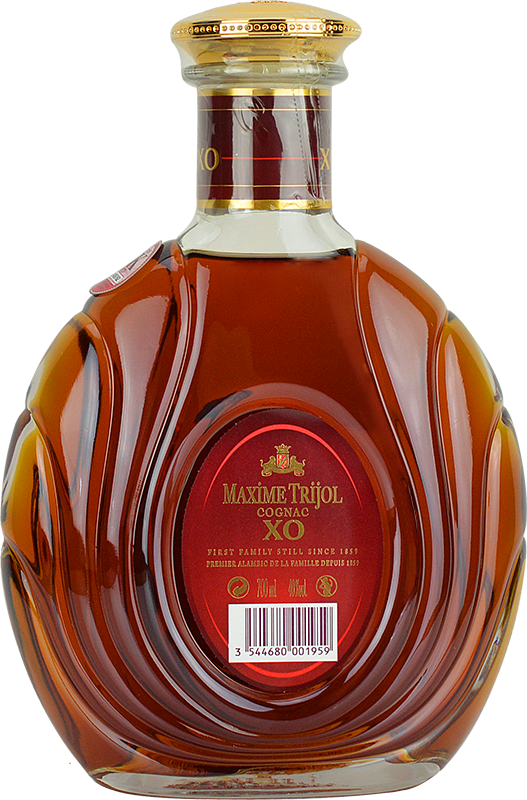 Personalised Maxime Trijol Classic XO Cognac 70cl engraved bottle