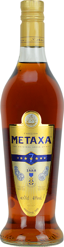 Personalised Metaxa Amphora 7 Star Brandy 70cl engraved bottle