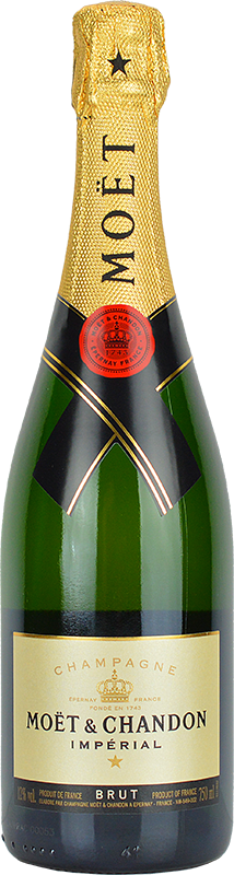Engraved text on a bottle of Personalised Moet and Chandon Brut Imperial Champagne 75cl