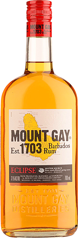 Personalised Mount Gay Eclipse Rum 70cl engraved bottle