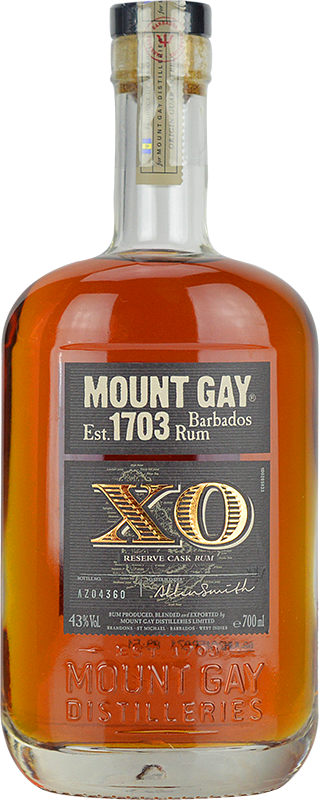 Personalised Mount Gay Extra Old Rum 70cl engraved bottle