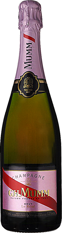 Personalised Mumm Brut Rose Champagne 75cl engraved bottle