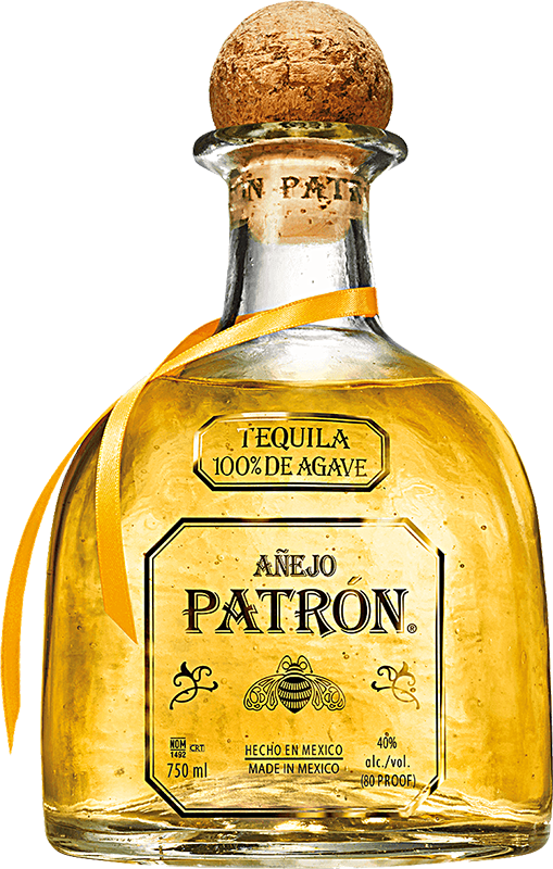 Engraved text on a bottle of Personalised Patron Anejo Tequila 70cl