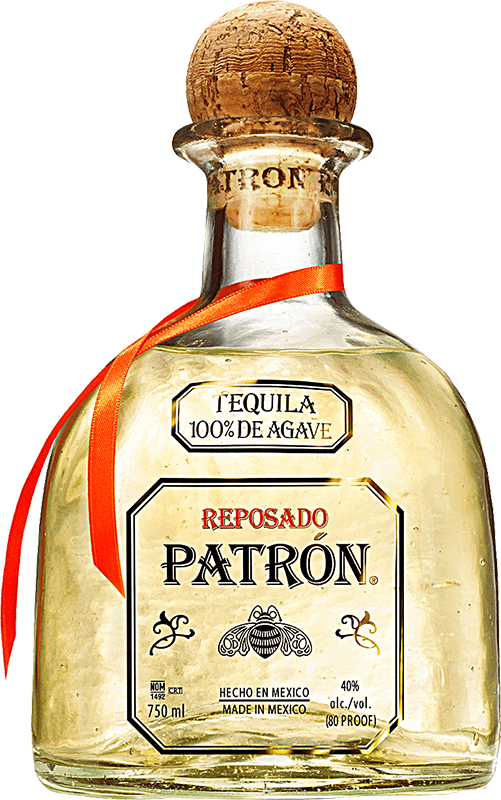 Engraved text on a bottle of Personalised Patron Reposado Tequila 70cl
