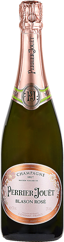 Personalised Perrier Jouet Blason Rose Champagne 75cl engraved bottle
