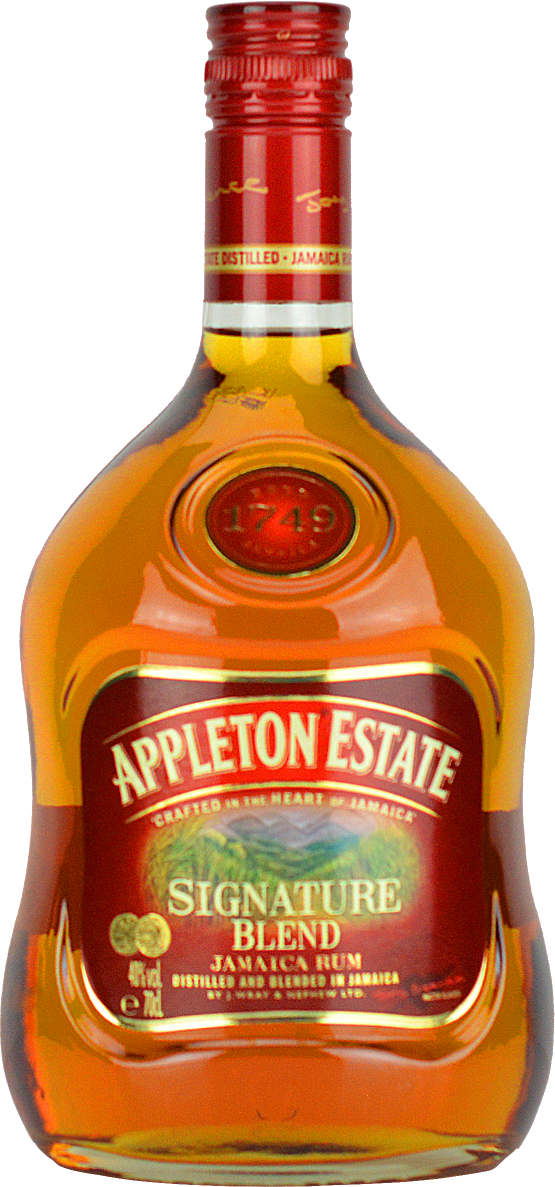 Engraved text on a bottle of Personalised Appleton Estate Signature Blend Rum 70cl
