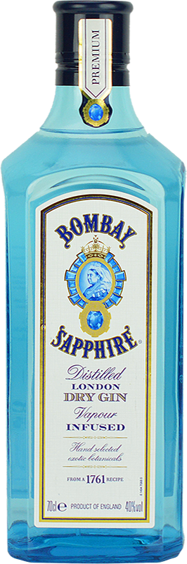 Engraved text on a bottle of Personalised Bombay Sapphire Gin 70cl