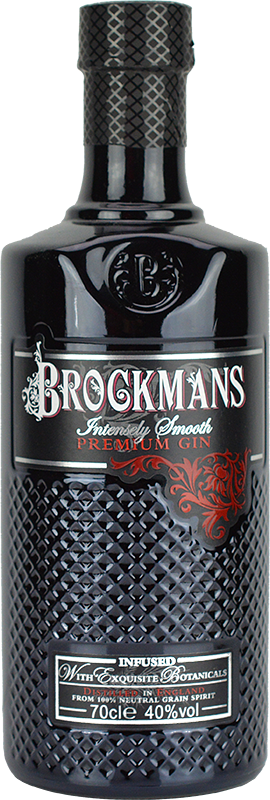 Engraved text on a bottle of Personalised Brockmans Gin 70cl
