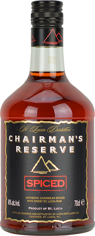 Engraved text on a bottle of Personalised Chairman Reserve Spiced Rum 70cl