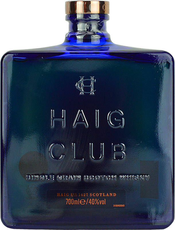 Engraved text on a bottle of Personalised Haig Club Whisky 70cl