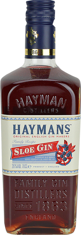 Engraved text on a bottle of Personalised Haymans Sloe Gin 70cl
