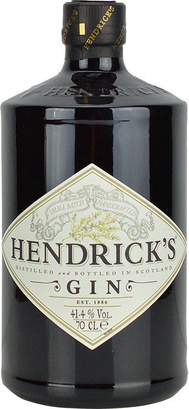 Engraved text on a bottle of Personalised Hendricks Gin 70cl