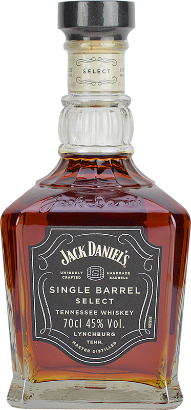Engraved text on a bottle of Personalised Jack Daniels Single Barrel Tennessee Whiskey 70cl