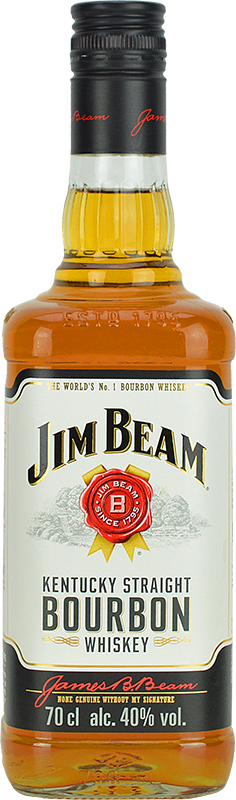 Engraved text on a bottle of Personalised Jim Beam White Label Whiskey 70cl
