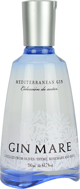 Engraved text on a bottle of Personalised Gin Mare 70cl