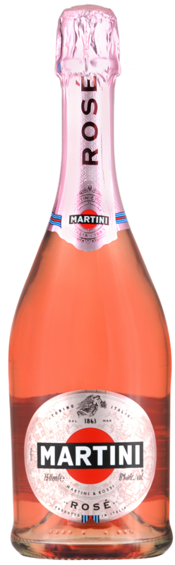 Personalised Martini Sparkling Rose 75cl engraved bottle