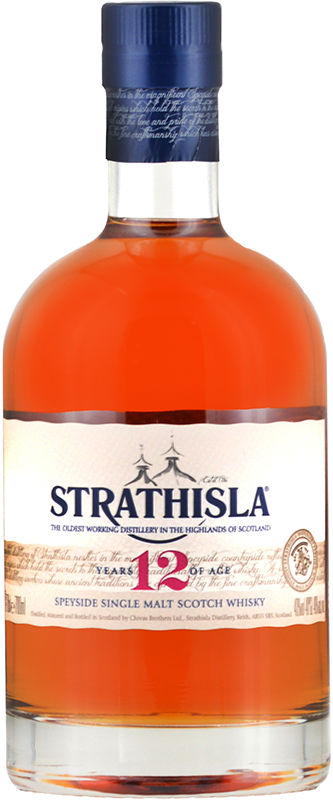Personalised Strathisla 12 Year Old 70cl engraved bottle