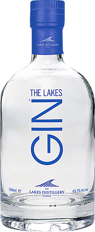 Engraved text on a bottle of Personalised The Lakes Gin 70cl