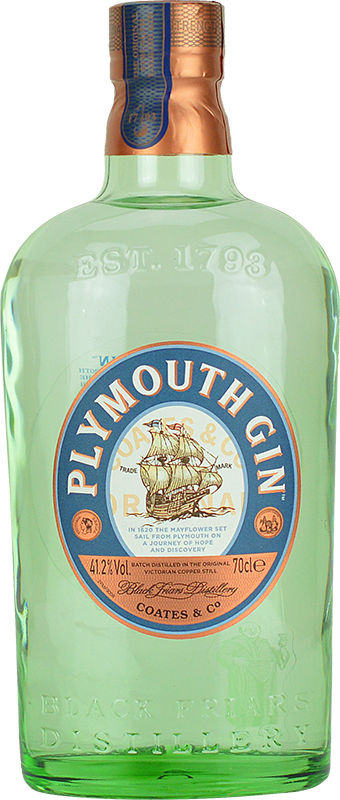 Engraved text on a bottle of Personalised Plymouth Gin 70cl