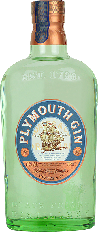 Personalised Plymouth Gin 70cl engraved bottle