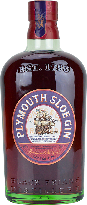 Engraved text on a bottle of Personalised Plymouth Sloe Gin 70cl