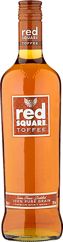 Personalised Red Square Toffee Vodka 70cl engraved bottle