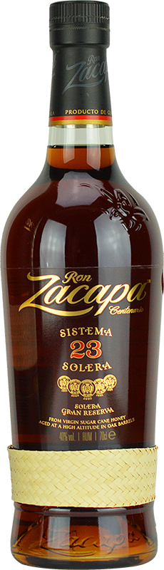 Engraved text on a bottle of Personalised Ron Zacapa Centenario Sistema Solera 23 Year Old Rum 70cl