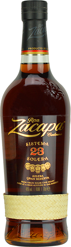 Personalised Ron Zacapa Centenario Sistema Solera 23 Year Old Rum 70cl engraved bottle