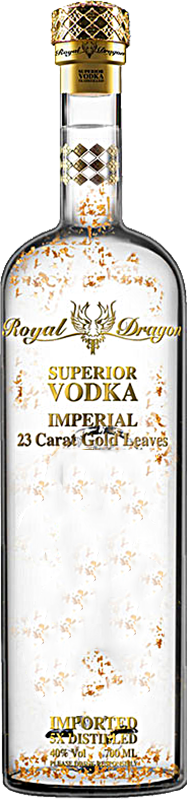 Personalised Royal Dragon Imperial Vodka 70cl engraved bottle