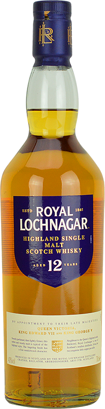 Personalised Royal Lochnagar 12 Year Old Whisky 70cl engraved bottle